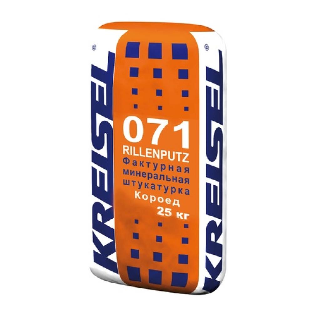 Фактурная штукатурка короед 2,5 мм ROLLENPUTZ DR 071 Kreisel, 25 кг